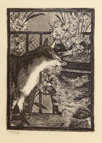 Edouard Manet (French, 1832-1883); Le chat et les fleurs;