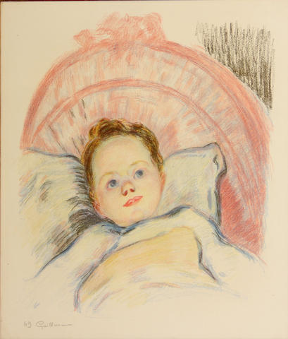 Armand Guillaumin (French, 1891-1955); Portrait de Marguerite, ou Tête d'Enfant;