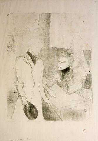 Henri de Toulouse-Lautrec (French, 1864-1901); Brandes et la Bargy, dans Cabotins;