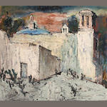 Louis Siegriest (American, 1899-1989) Church in Jalisco, 1955 25 x 27 1/2in