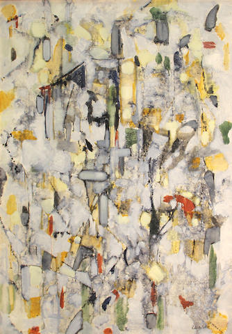 Roberto Soler (French, born 1928) Untitled, 1961 39 1/2 x 31 3/4in