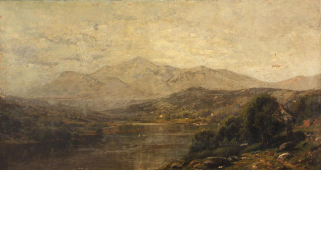 John Bunyan Bristol (American, 1826-1909) Mountain lake 24 x 44in