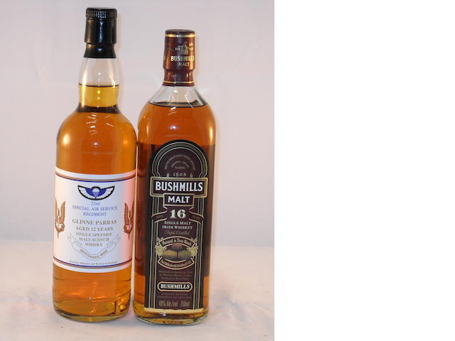 Glinne Parras 12 year old (1) <BR /> Bushmills 16 year old (1)