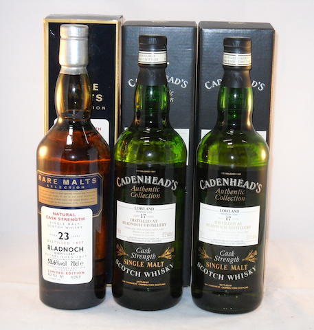 Bladnoch 1977- 23 year old (1) <BR /> Bladnoch 1980- 17 year old (2)