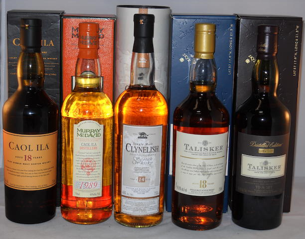 Caol Ila 18 year old (1) <BR /> Caol Ila 1989- 15 year old (1) <BR /> Clynelish 14 year old (1) <BR /> Talisker 18 year old (1) <BR /> Talisker 1992- 14 year old (1)