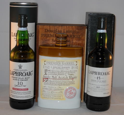 Laphroaig 10 year old (1) <BR /> Laphroaig 10 year old (1) <BR /> Laphroaig 15 year old (1)