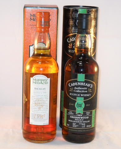 Macallan-Glenlivet 1979- 12 year old (1) <BR /> Macallan 1989- 11 year old (1) <BR /> Macallan 1990- 11 year old (1)