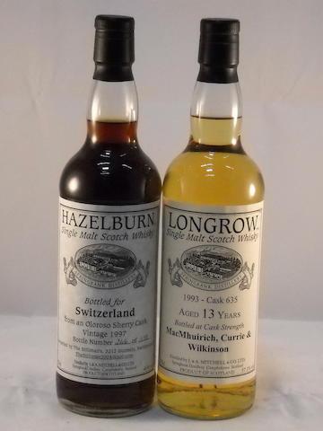 Hazelburn 1997 (1) <BR /> Longrow 1993- 13 year old (1)
