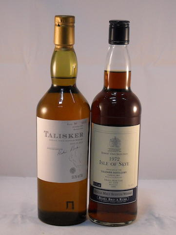 Talisker 10 year old (1) <BR /> 'Isle of Skye' 1972- 27 year old (1)