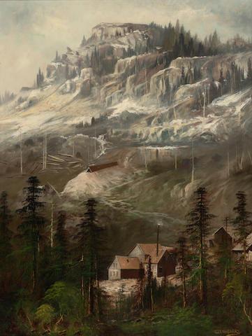 Joseph John Engelhardt (American, 1859-1915) A mining camp