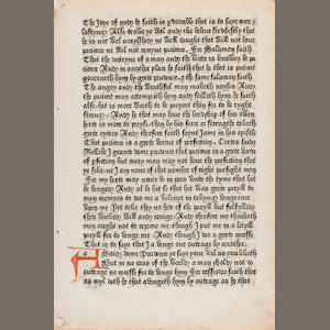 CHAUCER, GEOFFREY. 1340?-1400. [Canterbury Tales. Westminster: William Caxton, c.1478]