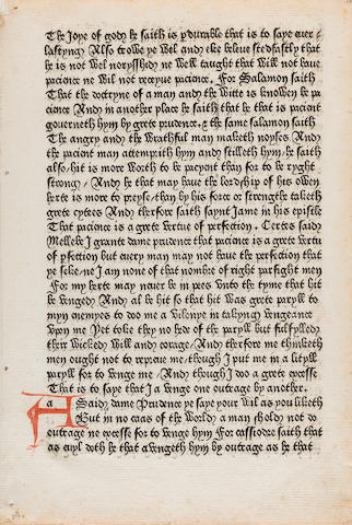 CHAUCER, GEOFFREY. 1340?-1400. [The Canterbury Tales. Westminster: William Caxton, 1477.]