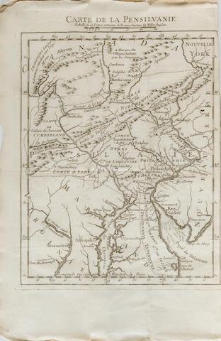 DELAVILLE, J.I. État présent de la Pensilvanie, où l'on trouve le detail ... du Général Braddock jusqu'à la prise d'Oswego... [Paris]: 1756.
