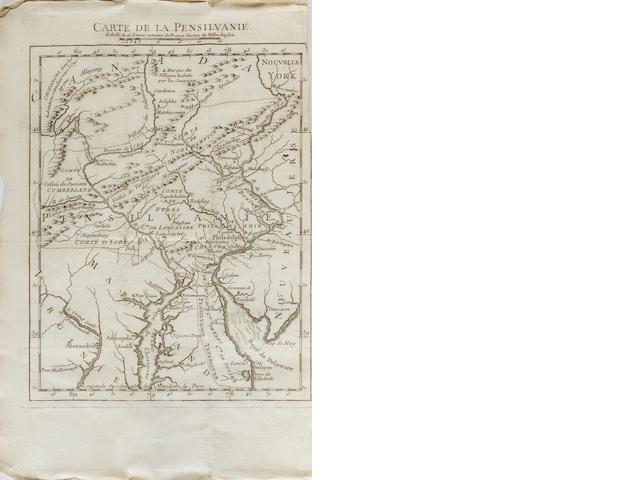 [DELAVILLE, J.I.] État présent de la Pensilvanie, où l'on trouve le detail ... du Général Braddock jusqu'à la prise d'Oswego... [Paris]: 1756.