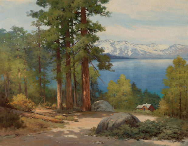 Robert Wood (American/British, 1889-1979) Lake Tahoe, California, 1945 28 x 36in
