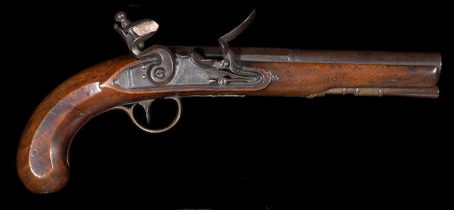 An English flintlock pistol