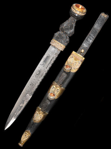 A pre-1881 Victorian Scottish officer's dirk for the 42nd Highland Regiment by Wilkinson