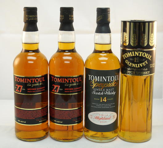 Tomintoul 27 year old (2) <BR /> Tomintoul 14 year old (1) <BR /> Tomintoul-Glenlivet 12 year old (1)