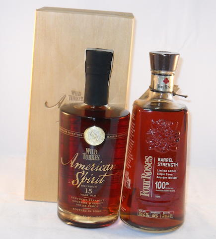 Wild Turkey American Spirit 15 year old (1) <BR /> Four Roses 100th Anniversary (1)