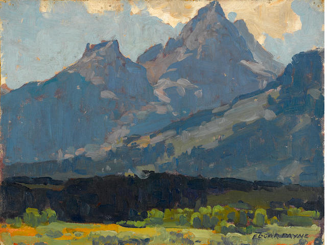 Edgar Payne, A View from the Valley floor up towards the Sierras, unframed