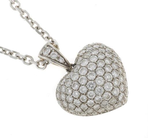 diamond pave-set pendant (18 pendant) D=1.95tw (14 chain)