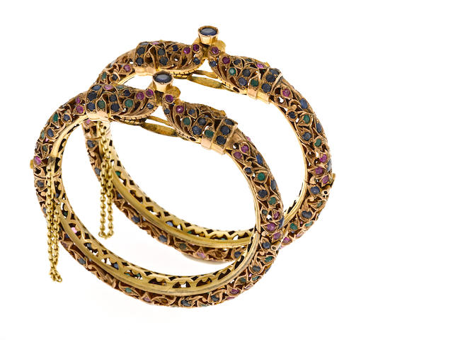 Pair of Indian bangles