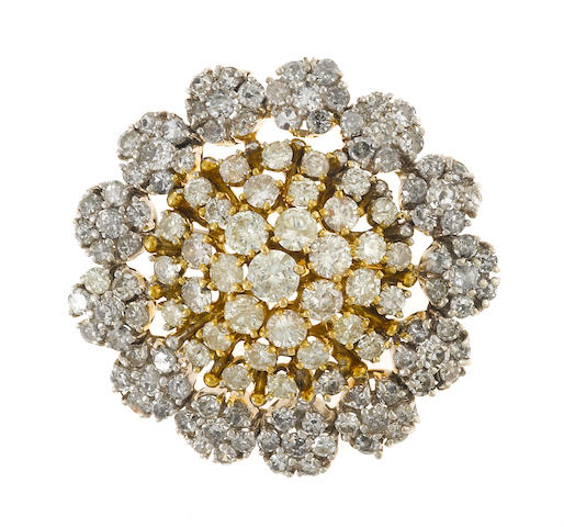 diamond snowflake brooch