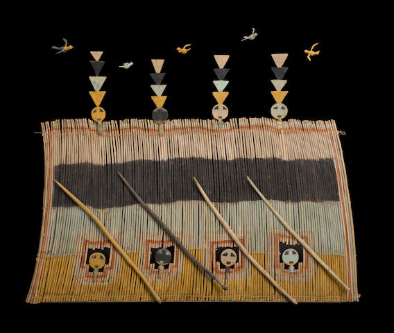 A rare and important Navajo Sun's House screen