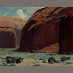James Swinnerton (American, 1875-1974) Canyon de Chelly 16 x 20in