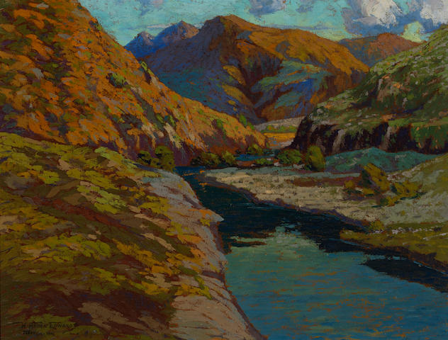 Howard Arden Edwards (American, 1884-1953) Topanga, 1914 26 x 34in