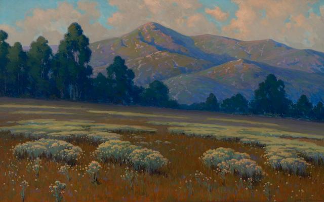John Marshall Gamble (American, 1863-1957) Santa Barbara landscape 30 x 48in