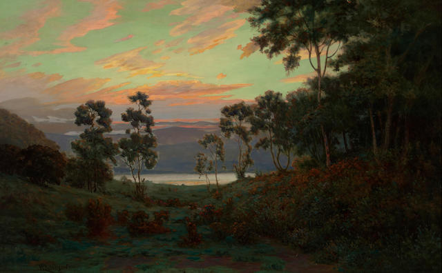 William Lees Judson (American, 1842-1928) Early morning 25 1/4 x 40 1/4in