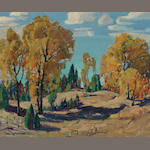 Paul Lauritz, Autumn near Big Bear Lake