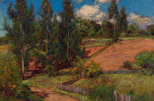 William Wendt (American, 1865-1946) Summer hillside 24 x 36in