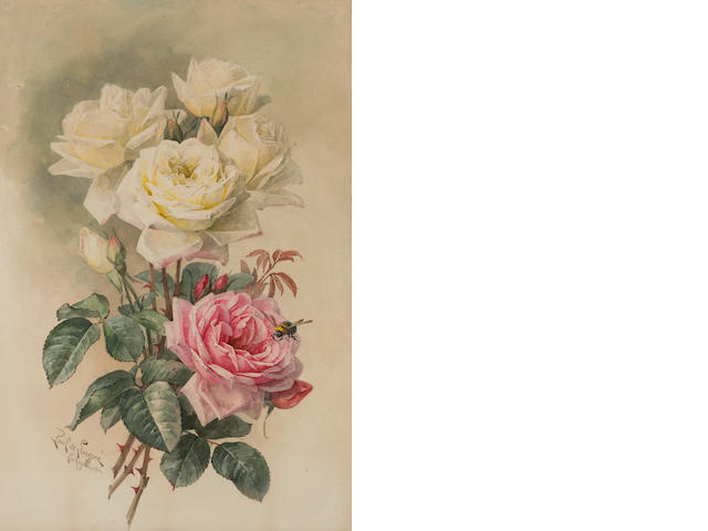 Paul de Longpre, French Roses, Bridal