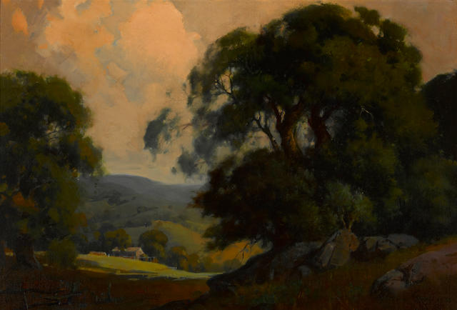 Percy Gray (1869-1952) California landscape, 1918 19 x 28in