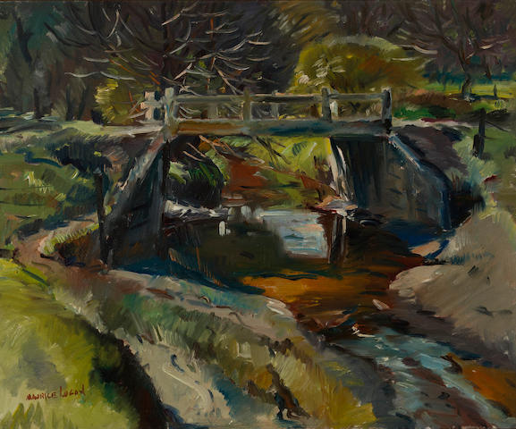 Maurice Logan (American, 1886-1977) Bridge at Old Walnut Creek 25 x 30in
