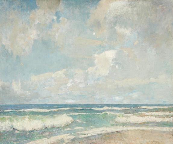 Soren Emil Carlsen (American, 1848-1932) Opaline sea 25 x 30in