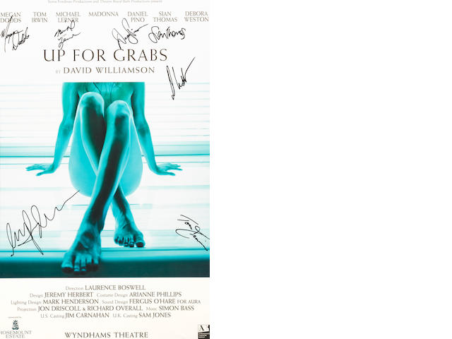 A Madonna-signed poster for Up for Grabs