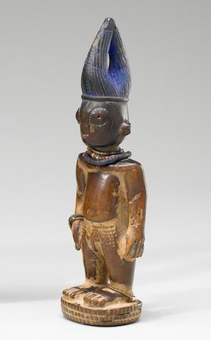 Yoruba Male Twin Figure, Ilorin Region, Nigeria