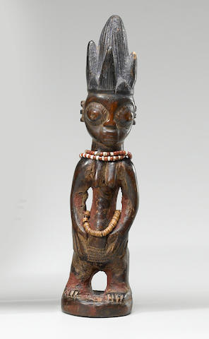 Yoruba Twin Female Figure, Ilorin Region, Nigeria