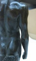 An Italian patinated bronze figure of Antinous (111 - 130 AD)<BR />possibly from the workshop of Giacomo Zoffoli (Italian, 1731-1785)<BR />after the antique<BR />18th century