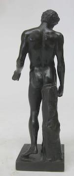 An Italian patinated bronze figure of Antinous (111 - 130 AD) possibly from the workshop of Giacomo Zoffoli (Italian, 1731-1785) after the antique 18th century