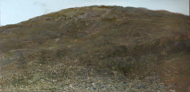 Walter Snelgrove (American, 1924-1995) Green hills 40 1/2 x 78in unframed