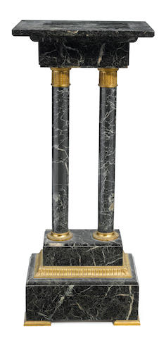 A French gilt bronze mounted marble pedestal, late 19th century