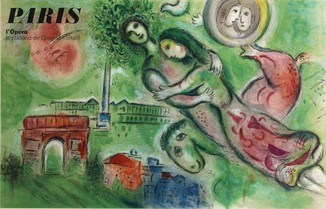 After Marc Chagall (Russian/French, 1887-1985); L'Opera, Paris (poster);