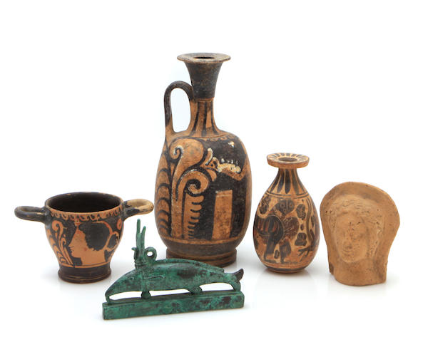 An assembled group of Antiquities