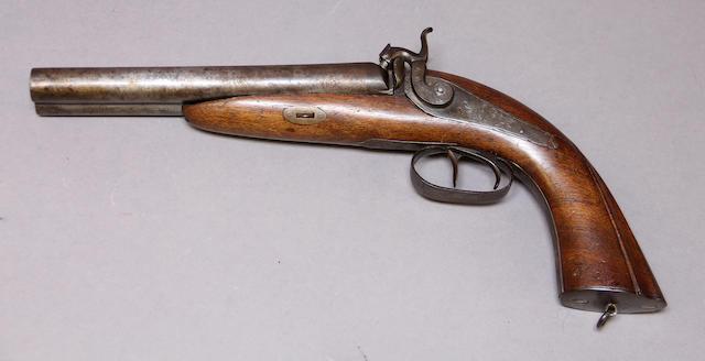 A continental double barrel percussion pistol