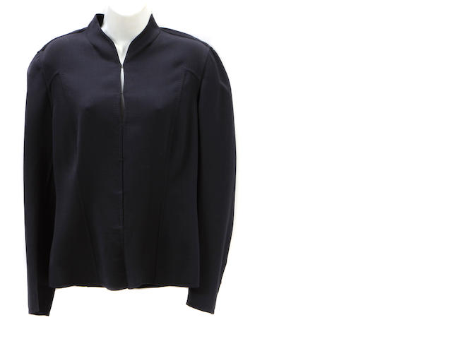 A Carolina Herrera black silk and wool short jacket