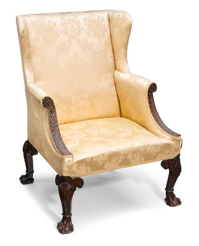 A George II upholstered armchair <BR />18th century